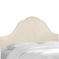 Skyline Arched Headboard in Talc-122