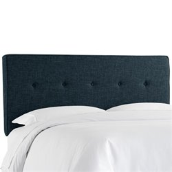 Skyline Five Button Headboard in Navy-134