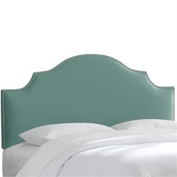 Skyline Nail Button Notched Headboard in Caribbean-152