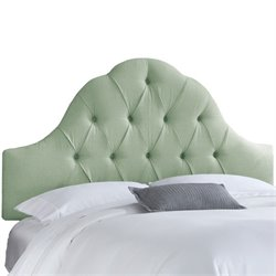 Skyline Arch Tufted Headboard in Swedish Blue-162
