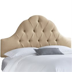 Skyline Arch Tufted Headboard in Sandstone-164