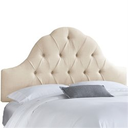 Skyline Arch Tufted Headboard in Talc-166