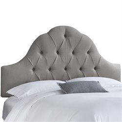 Skyline Arch Tufted Headboard in Gray-167