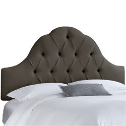 Skyline Arch Tufted Headboard in Slate-169