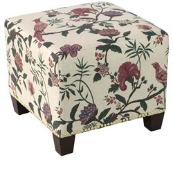 Skyline Furniture Ottoman in Shaana Holiday Red