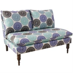 Skyline Furniture Loveseat in Pen Medallion Blue