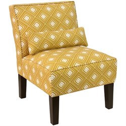 Skyline Furniture Upholstered Accent Chair in Diamond Yellow