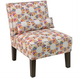 Skyline Furniture Upholstered Accent Chair in Medallion Multi