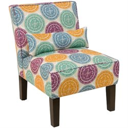 Skyline Furniture Upholstered Accent Chair in Pen Medallion Multi