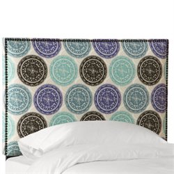 NB-BKPNMDLBLOGA Headboard in Pen Medallion Blue