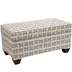 Skyline Furniture Storage Bench in Remmy Cream