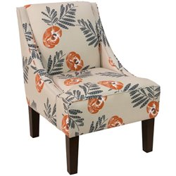 Skyline Furniture Upholstered Accent Chair in Mod Floral Orange
