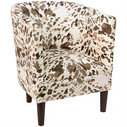 Skyline Furniture Upholstered Accent Chair in Cow Natural