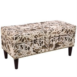 Skyline Furniture Storage Bench in Cow Natural