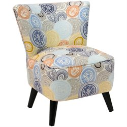 Skyline Furniture Upholstered Chair in Painterly Medallion Multi