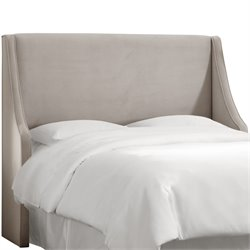 Skyline Furniture Upholstered Headboard in Velvet Light Gray-SH1