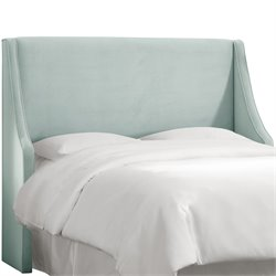 Skyline Furniture Upholstered Headboard in Light Green-SGH