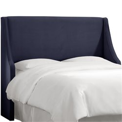 Skyline Furniture Upholstered Headboard in Velvet Navy-SH7