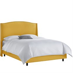 Skyline Furniture Upholstered Bed in Yellow-V