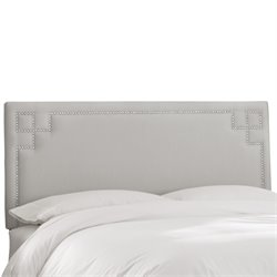 Skyline Furniture Upholstered Panel Headboard in Shantung Silver-ZZ