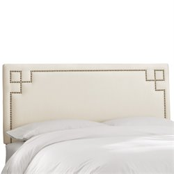 Skyline Furniture Upholstered Panel Headboard in Shantung Pearl-AA