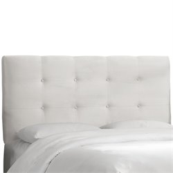 Skyline Furniture Tufted  Panel Headboard in White-RK