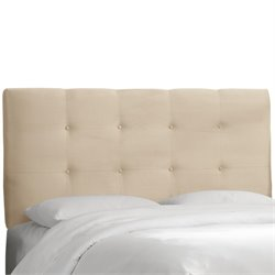 Skyline Furniture Tufted Panel Headboard in Oatmeal-ZK