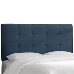 Skyline Furniture Tufted Panel Headboard in Navy-GK