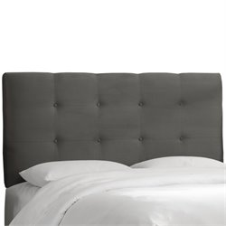 Skyline Furniture Tufted Panel Headboard in Charcoal-MK