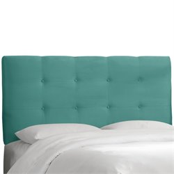 Skyline Furniture Tufted Panel Headboard in Tidepool-PH