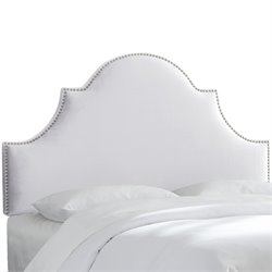 Skyline Furniture Upholstered Panel Headboard in Mystere Snow-HN