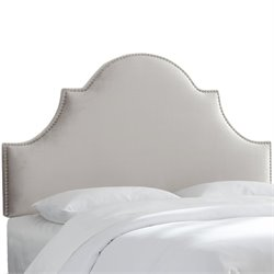 Skyline Furniture Upholstered Panel Headboard in Mystere Dove-SM