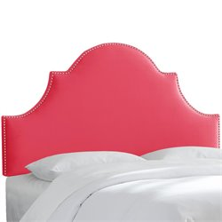 Skyline Furniture Upholstered Panel Headboard in Mystere Flamingo-GKH