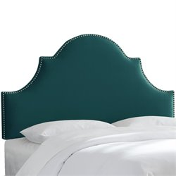 Skyline Furniture Upholstered Panel Headboard in Mystere Peacock-XL