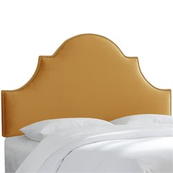 Skyline Furniture Upholstered Panel Headboard in Mystere Amber-XLL