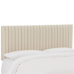 Skyline Furniture Upholstered Panel Headboard in Fritz Charcoal-HK