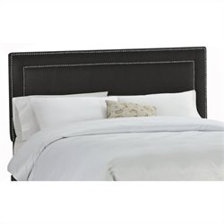 Skyline Furniture Tufted Panel Headboard in Black