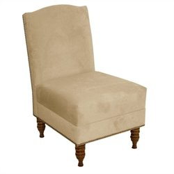 Skyline Furniture Upholstered Slipper Chair in Buckwheat