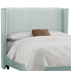 Skyline Furniture Wingback Panel Headboard in Pool