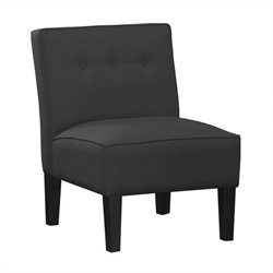 Skyline Furniture Tufted Slipper Chair in Black