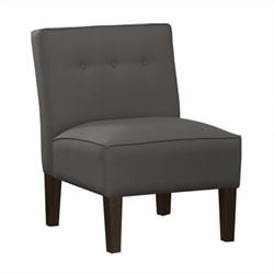 Skyline Furniture Tufted Slipper Chair in Gray