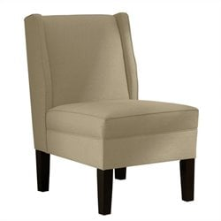 Skyline Furniture Upholstered Slipper Wingback Chair in Beige