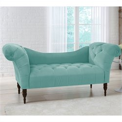 Skyline Furniture Tufted Chaise Lounge in Caribbean
