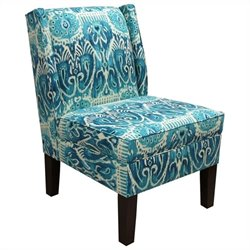 Skyline Furniture Wingback Slipper Chair in Blue