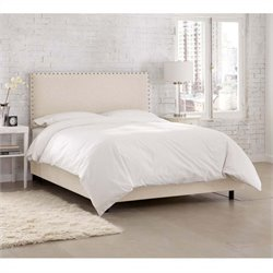 Skyline Furniture Upholstered Bed in Talc