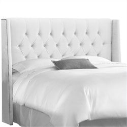 Skyline Furniture Tufted Panel Headboard in White