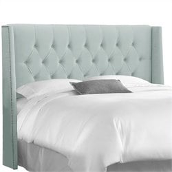 Skyline Furniture Tufted Panel Headboard in Pool