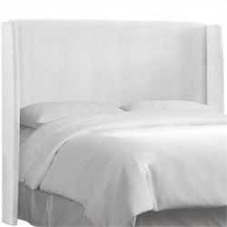 Skyline Furniture Wingback Panel Headboard in White