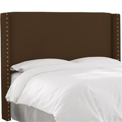 Skyline Furniture Button Panel Headboard in Brown