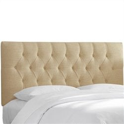 Skyline Furniture Tufted Panel Headboard in Beige